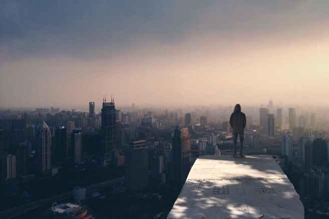 alone buildings city cityscape